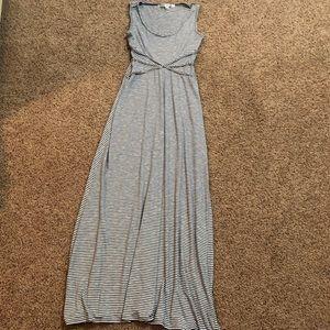 MAX STUDIO Striped Maxi Tank Dress Size XS